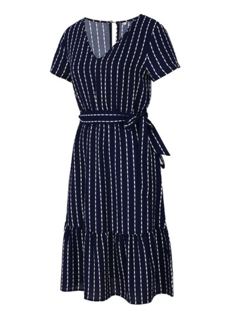 The Charming Dress - In Navy (Pre-Order Ships July 6th) - The Darling Style