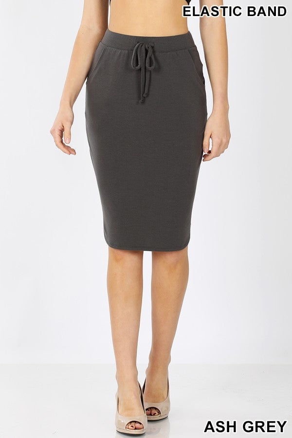 Lounge Skirt - Charcoal - The Darling Style