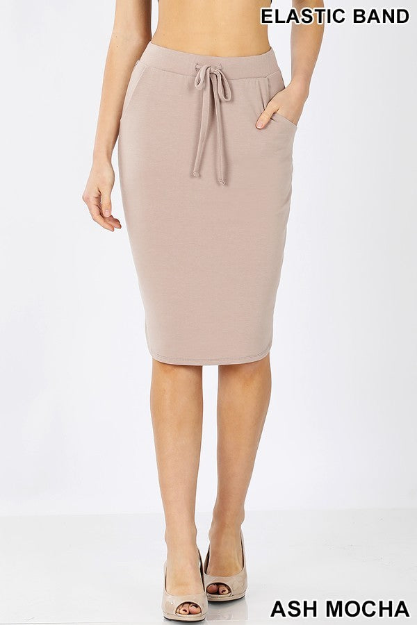Lounge Skirt - Mocha - The Darling Style
