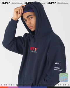 GRVTY Projects Workwear II Hooded Sweatshirt (Slate Blue) - GRVTY