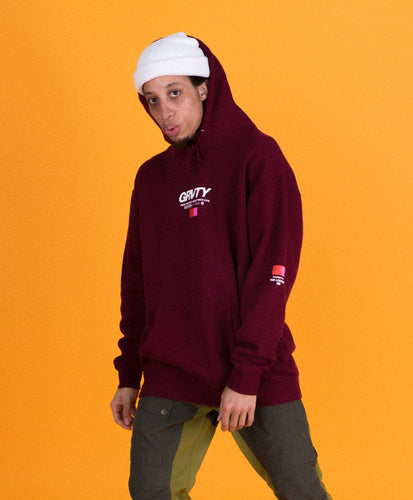 GRVTY Projects Hooded Sweatshirt (Burgundy)