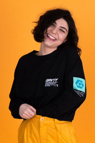 GRVTY Works Official Issue Long Sleeve (Black)