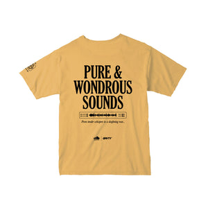 "GRVTY x SoundCloud ""Pure & Wondrous Sounds"" Tee (Yellow) - GRVTY"