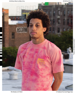 GRVTY Technical Tee (Acid Poppy Dye) - GRVTY