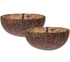 Coconut Shell Bowl Natural x 2 - Bundle and Save