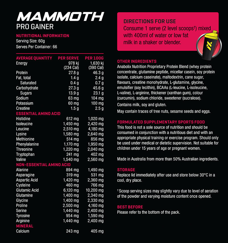 Anabolix Mammoth Nutrition
