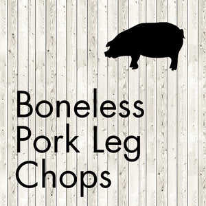boneless pork leg chops