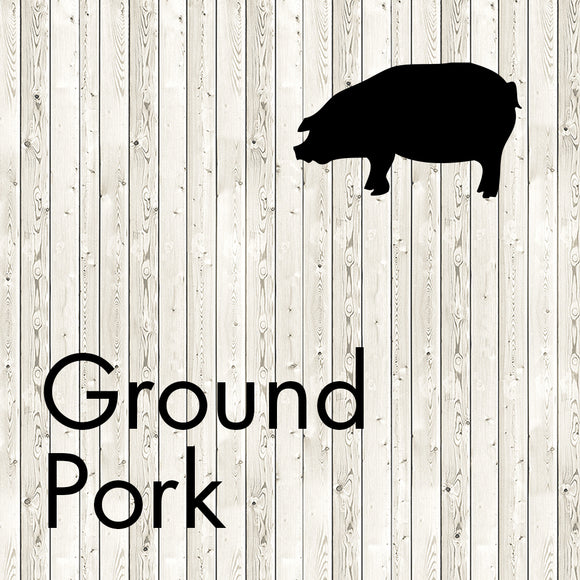 ground pork