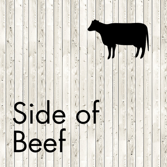 side of beef