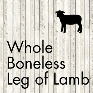 whole boneless leg of lamb