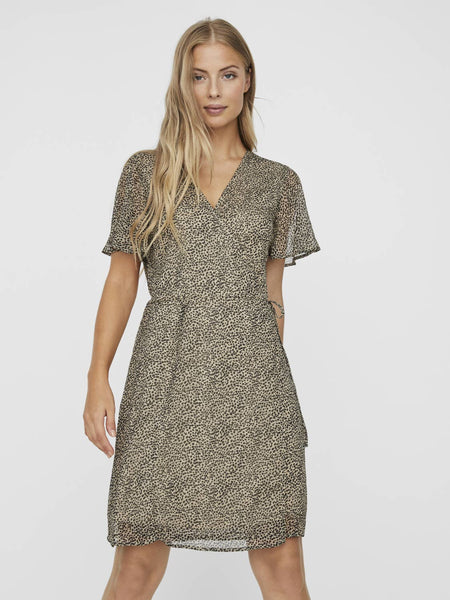 VMKAY WRAP SHORT DRESS
