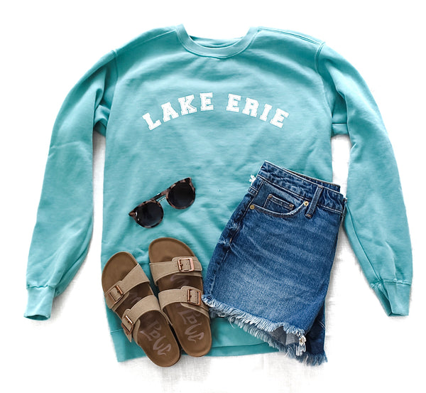 Lake Erie Vacation Sweatshirt - Seafoam