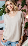 V Neck Tunic Sweater