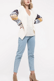 Cream Cardi w/ Multi Sleeve