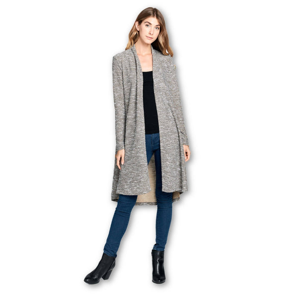 Made in USA - Lightweight Open Front Classic Long Cardigan
