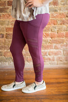 Mesh Peekaboo Workout Leggings