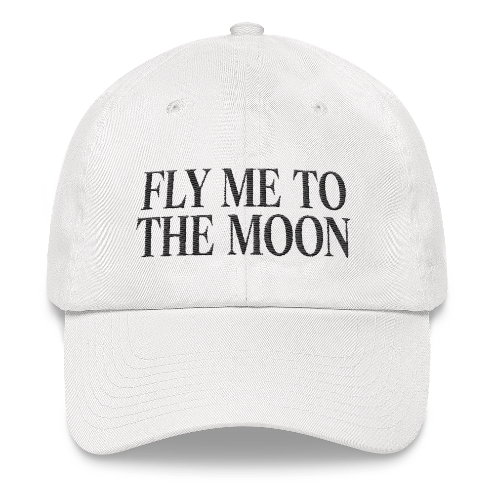 Fly Me To The Moon - White