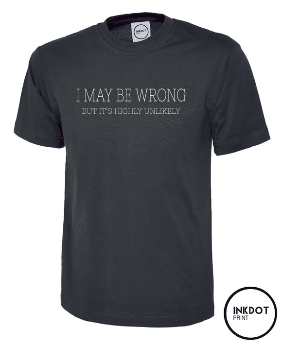 I may be wrong but its highly unlikely T-Shirt