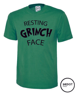 Resting Grinch Face Christmas Tee