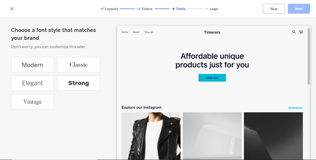 shopify weebly onboarding