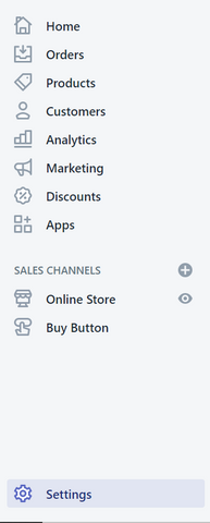 shopify-settings
