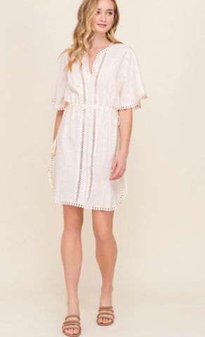 Natural cover up dress