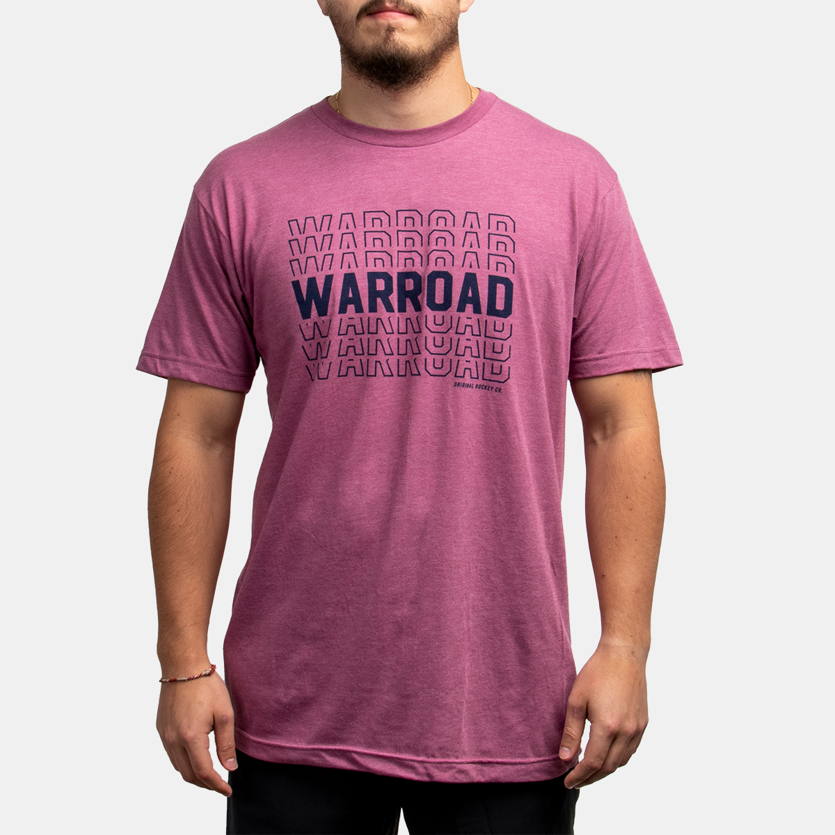 Warroad Stacked Tee - Heather Cassis