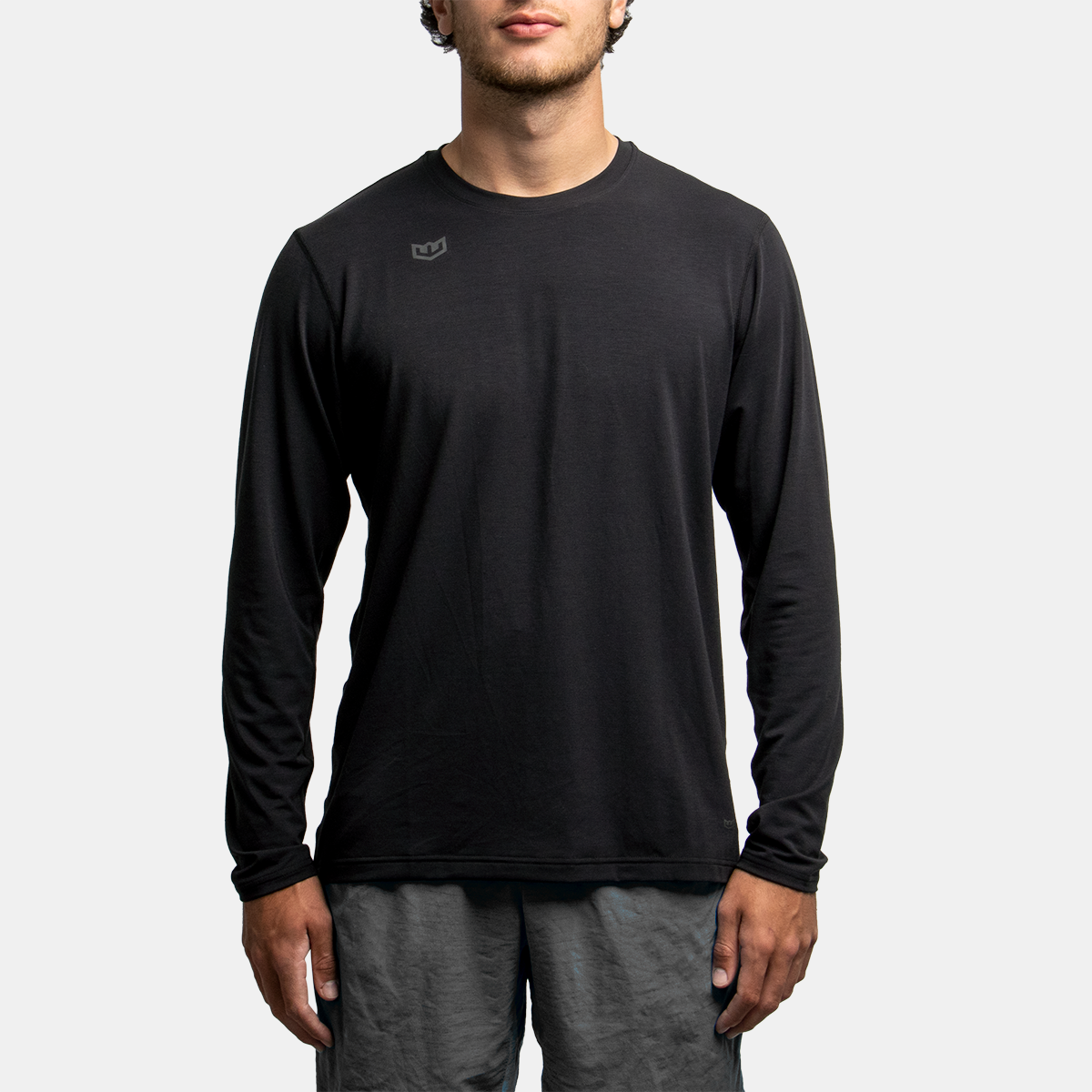 Long Sleeve Tech Tee - Black