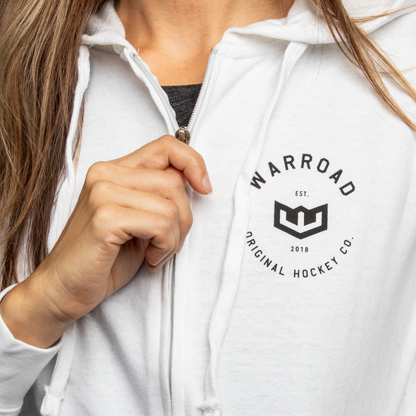 Women's Zip-Up Hoodie - White