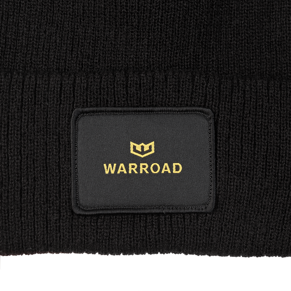 Woven Patch Beanie Black