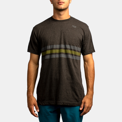 Neutral Zone Stripe Tee - Graphite