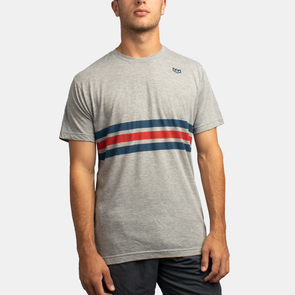 Neutral Zone Stripe Tee - Heather