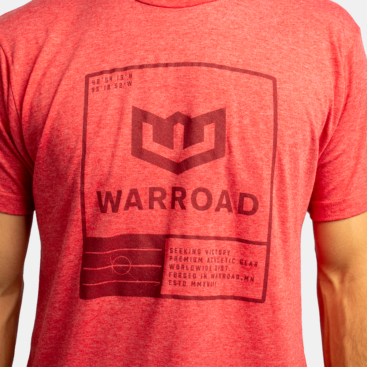 Warroad Stamp Tee - Heather Red