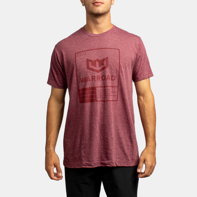 Warroad Stamp Tee - Heather Burgundy