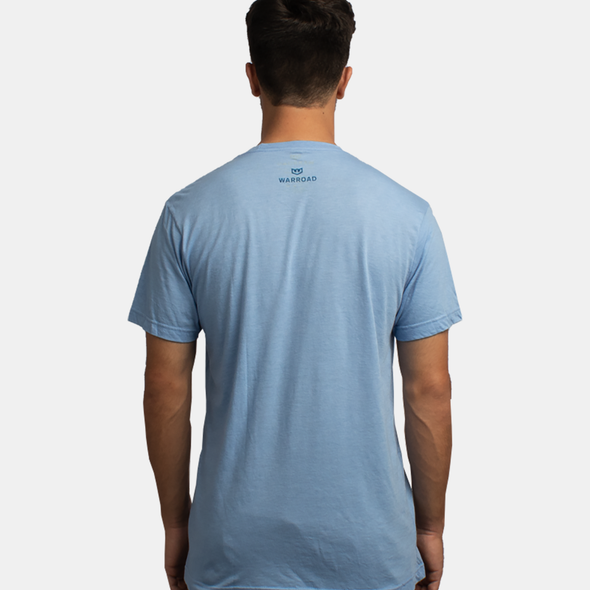 Warroad Stamp Tee - Athletic Blue