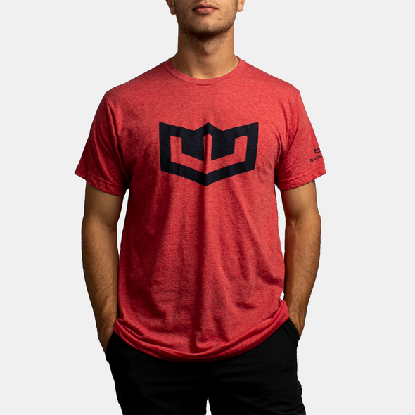 Warroad Crest Tee - Heather Red