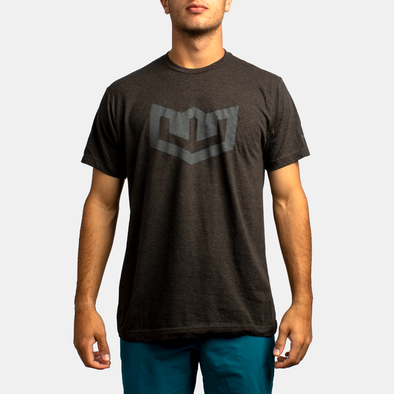 Warroad Crest Tee - Heather Graphite
