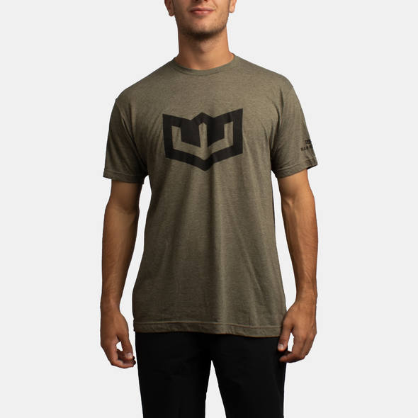 Warroad Crest Tee - Heather Military Green