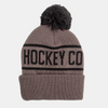 Unisex Touque Black/Grey Beanie with Pom