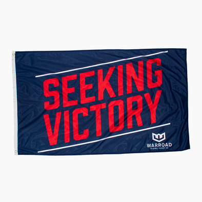 Seeking Victory Flag - Red White and Blue