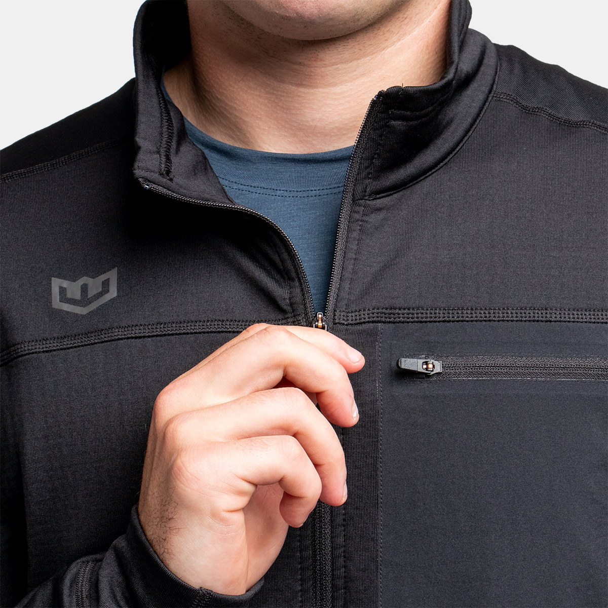 Men's Active 1/4 Zip 2.0 - Black