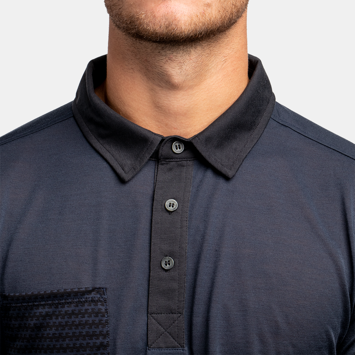 Post Season Polo - Carbon Blue Stripe