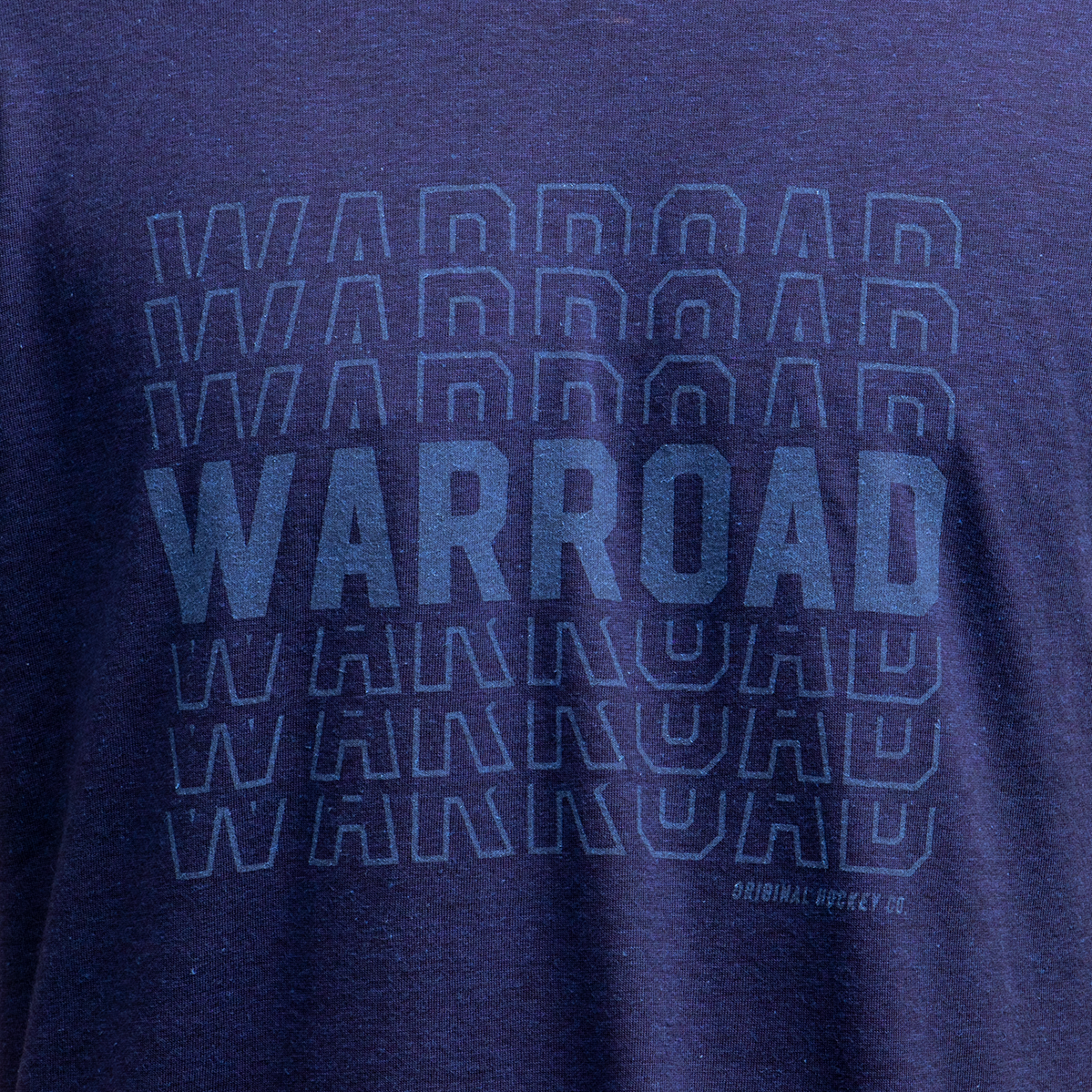 Warroad Stacked Tee - Navy