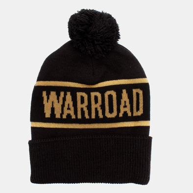 Unisex Touque Black/Gold Beanie with Pom