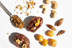 Salted Caramel and Quinoa stuffed Medjool dates taster pack