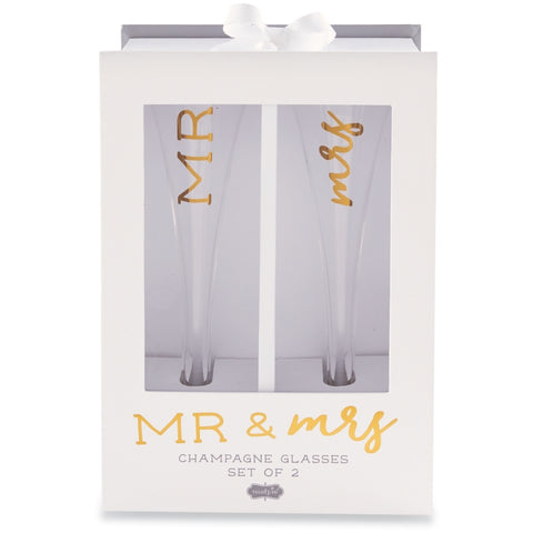 MR. & MRS. CHAMPAGNE GLASS SET