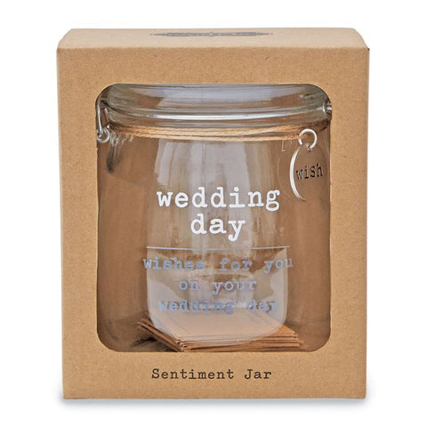 Wedding Wish Glass Jar