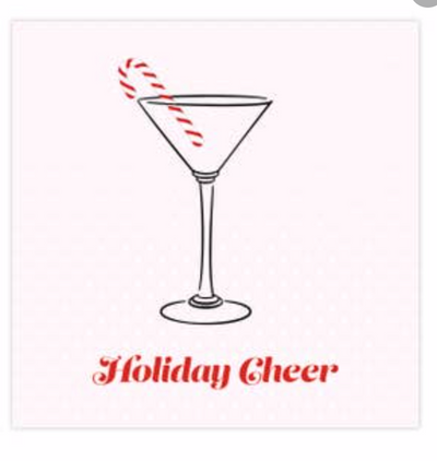 Holiday Cheer Beverage Napkin 20ct