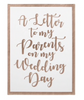 Cards for Parents for Wedding Day