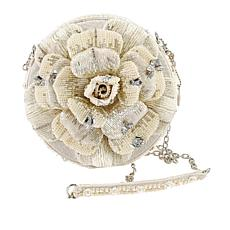 Petals of Pearls Beaded Ivory Rose Handbag